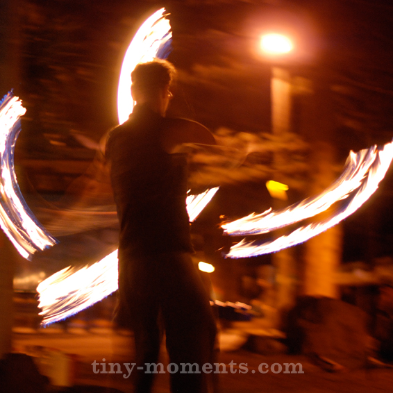 Fire Twirler Byron Bay