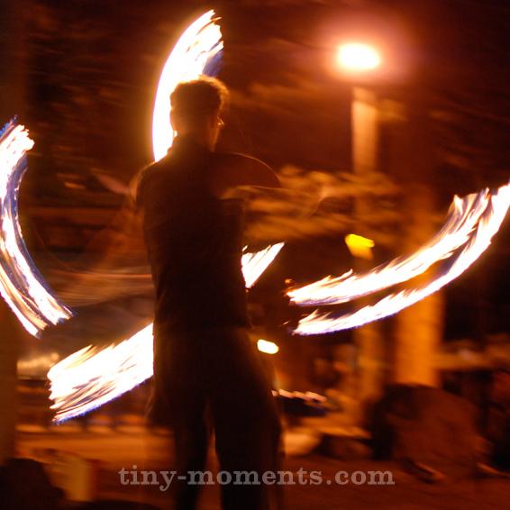 Fire Twirler Byron Bay